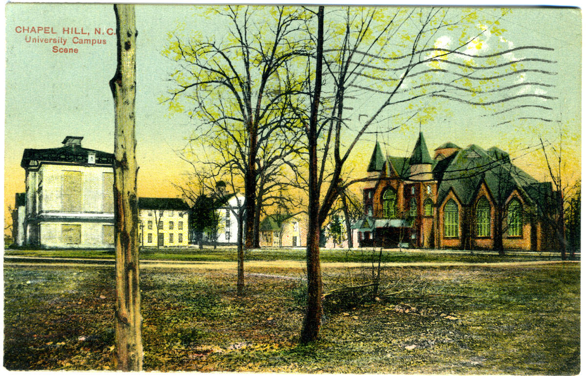 Memorial Hall, New West, and Old West, c. 1911.