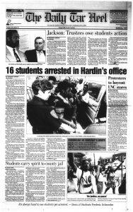 The Daily Tar Heel, April 16, 1993.