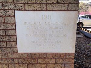 "I. G. Lawrence, ""Caldwell Hall Cornerstone, 1911"" at Caldwell Hall, University of North Carolina at Chapel Hill. Photo by Noah Janis."