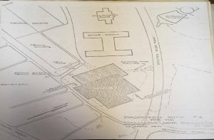 Sketches for site near Cobb – Source: From Box 2:3:47, Facilities Planning and Design Office of the University of North Carolina at Chapel Hill Records