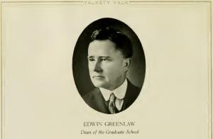 Dean of Graduate School Portrait, Yackety Yack 1921, from DigitalNC.