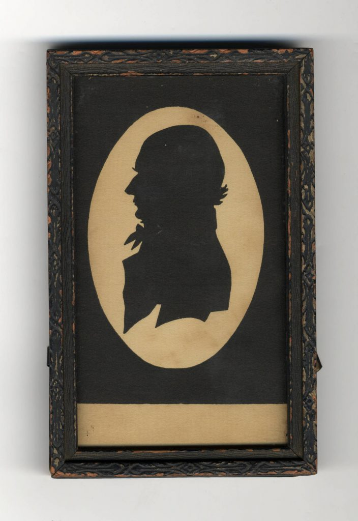 """Silhouette of UNC President Joseph Caldwell, circa 1815,"" in Carolina Keepsakes, North Carolina Collection, Wilson Library, University of North Carolina at Chapel Hill."