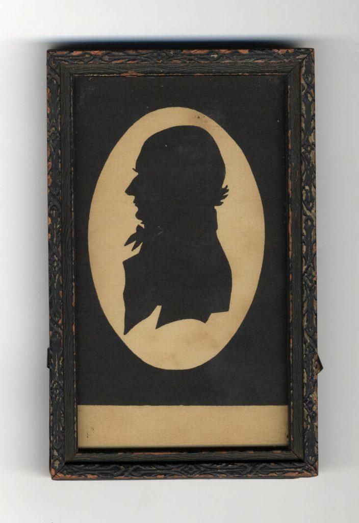 """Silhouette of UNC President Joseph Caldwell, circa 1815,"" in Carolina Keepsakes, North Carolina Collection, Wilson Library, University of North Carolina at Chapel Hill."