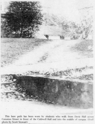 """Convenience and Campus Eyesores,"" Daily Tar Heel (Chapel Hill, NC), Nov. 18, 1971, accessed March 26, 2017, //universityofnorthcarolinaatchapelhill.newspapers.com/image/67805056."