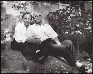 Dr. Roberta Jackson with her husband Dr. Blyden Jackson