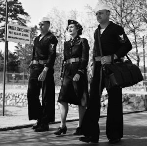 Cadets on campus in 1944[7]