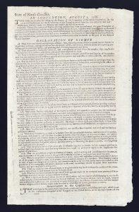 North Carolina Declaration of Rights 1788, Library of Congress